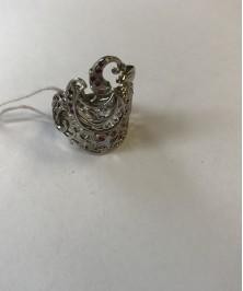 Кольцо серебро и фианит - Израиль
