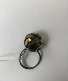 Кольцо эмаль и позолота