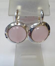 Серьги розовый кварц 2